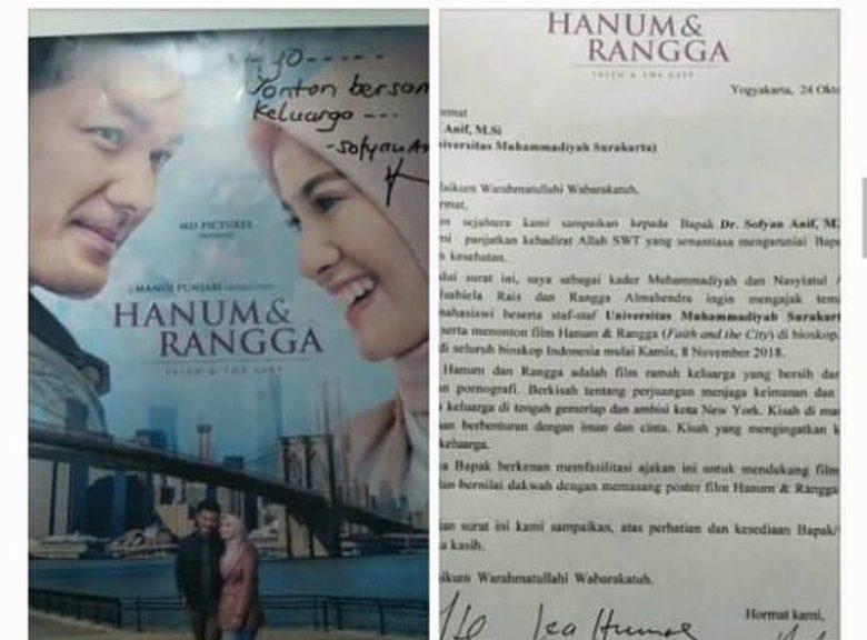 Viral UMS Ajak Mahasiswanya Nonton Hanum & Rangga
